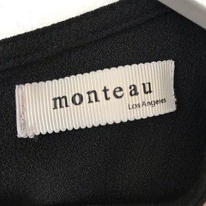 Monteau Pants - Monteau | Black Scallop Hem Romper